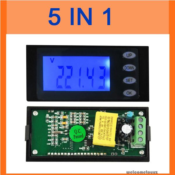 AC 80-270v 110v 220v Digital LED power meter monitor Voltage KWh time watt energy Volt Ammeter voltmeter 20A Built-in shunt(China (Mainland))