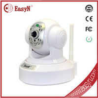 H.264WiFi IP Camera HD 1MP CCTV Security System Alarm PT web Plug&Play SD card recording night vision security camera auto alert