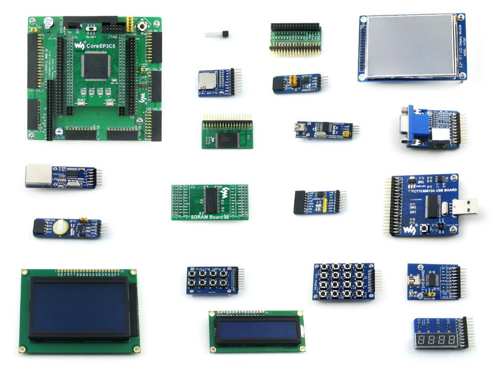 Altera Cyclone Board EP3C5 EP3C5E144C8N ALTERA Cyclone III FPGA Development Board + 19 Accessory Kits = OpenEP3C5-C Package B(China (Mainland))