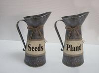 Flower Drum Home decoration flower pots planters iron flower vase Wrought Iron Flower Pot Restoring Ancient Ways H 27cm