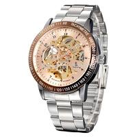 2015 Luxury IK Brand Black Skeleton Dial Automatic Mechanical Men's Military Steel Watch