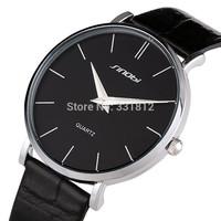 2015 New SINOBI Watches Luxury Brand Leather Strap Watch for Men Ultra-thin Quartz Analog Military watch