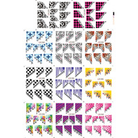 Nail Art Water Transfers Stickers French Smile Style Nail Decals Stickers