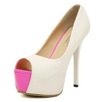 2015 women ultra high heels open toe  women's pumps  High quality women sexy evening pumps