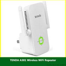 TENDA A301 Wireless WiFi Repeater 802.11N/B/G RJ45 Network Universal Range Extender 300M Wi Fi Roteador Antenna Signal Booster