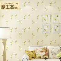 3D 2015 non-woven wallpaper wallpaper living room bedroom garden foliage backdrop Chinese