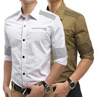 New Brand Mens Dress Shirts Long Sleeve Casual Formal Shirt  Slim Fit Camisa Masculina Plus Size 3XL