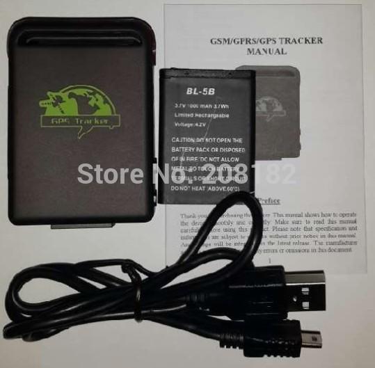 TK102B 4 band gps tracker+USB+battery google link high speed platform free shipping(China (Mainland))