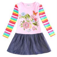 Tutu Dress for Girls Nova Floral Baby Girl Dress Kid Girl Spring Party Dress Casual Roupa Infantil H5803