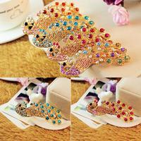 fashion delicacy Rhinestone coloured peacock hairpin hair pin clip
