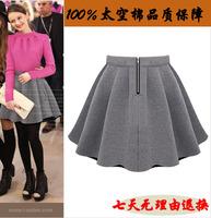2014 short skirt bust skirt female autumn and winter black pleated skirt pants high waist puff umbrella skirt women's