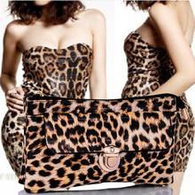 [ FB леопарда сумки ] оптовая продажа Новый стиль мода женщины PU леопарда печать сумки сумка с двумя портмоне бесплатная доставка #FB0061