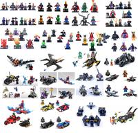super heros 8pcs/set Batman & Robin & Joker Building Bricks Blocks Sets minifigure Compatible With Lego