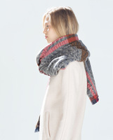 2014 autumn and winter in Europe and America Branded sided personality long cashmere shawl blanketcashew printing