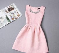 S-XL 2015 autumn plus size women's temperament Slim princess dress tutu dress mini dress WAQIA