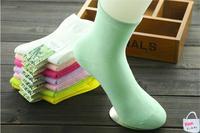 2015 Bamboo Fiber Socks Women Tipi Toe Women's Colorful Patterned Crew Socks High Quality Socks 1 PCS Drop Shipping Size 34-40