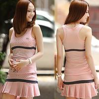 2014 women's sportswear sports set tennis spaghetti strap skirt vest culottes yoga sports set