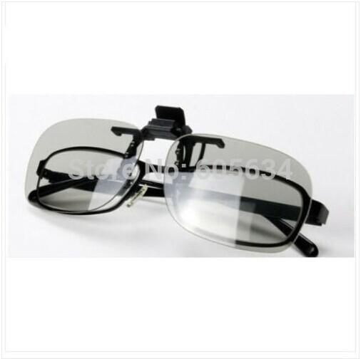 3D Eye Clip Polarized Lenses 3D Glasses Clip On Myopia Glass For Home Cinema Movie Film 3D Clips(China (Mainland))