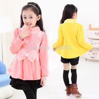2015 Wholesale 5pcs/lot Korea Style Lacel Girl Dresses Cartoon Princess Dresses Kids Children's Clothing Free Shipping DA612