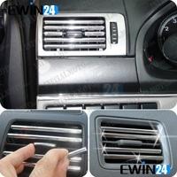 DIY U Style Chrome Strip Trim Rim Cover Air-Condition Grille Speaker Radio Light  free shipping 5pcs/lot