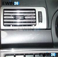 Car Air Condition Bumper Side Vent Grille Switch Radio U Style Chrome Strip Trim 10sets/lot