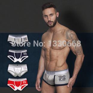 1pcs/lot Free Shipping New Mens Boxer Shorts Fashion movement spell breathable mesh fabric pink hero underwear men's boxer(China (Mainland))