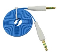 S Blue Noodle AUX Stereo Audio Cable 3.5mm Male to Male for iPhone Samsung