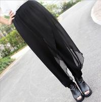 New 2015 Women's Chiffion Modal Patchwork Harem Pants Fleece Sweatpants Straight Sports Casual Hip-Hop Pants