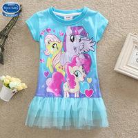 5pcs/lots New 2015 4-8Y My little pony Children dress Girls Dresses My little pony Girls Dresses Summer Baby Girls Dress