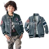 2015 Spring Children Baseball cap Coat Boys Fashion  jacket Coat Kids Clothing Free Shipping 5 PCS