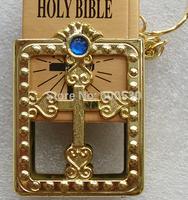 Christian key chain Gifts Small Jewelry Wholesale Mini Pocket Bible Keychain