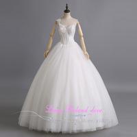Fashionable One Shoulder Floor Length Wedding Dress Bride On Stock Size 2-12 Cheap Bridal Gowns China Vestido De Casamento 2015