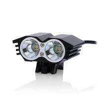2015 New Free shipping 5000Lumen 2x CREE XML T6 LED Bike Bicycle Front head Light lamp Headlamp Headlight 8.4v Battery pack