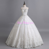 Vestido De Novias Sweetheart Crystal Ball Gown Bride Wedding Dresses 2015 Custom Made Floor Length Bridal Gowns Casamento Hot