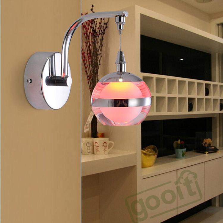 led single head apple shape acrylic wall lamp for indoor hotel bedroom - Wall Light Fixtures For Bedroom