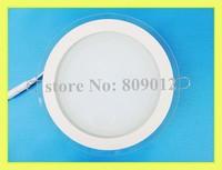LED panel light flat lamp round with glass AC85-265V 100X100 6W / 160X160 12W / 200X200 18W enough wattage real 6W 12W 18W round