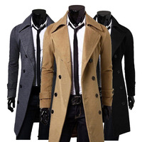 2015 New Arrival Men's Casual Coat Lapel Jacket Slim Overcoat
