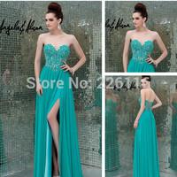 Vestido De Renda Special Offer New Arrival Chiffon Vestido Sa3564 Wholesale 2014 Turkish Evening Dress In Turquoise_bridalk