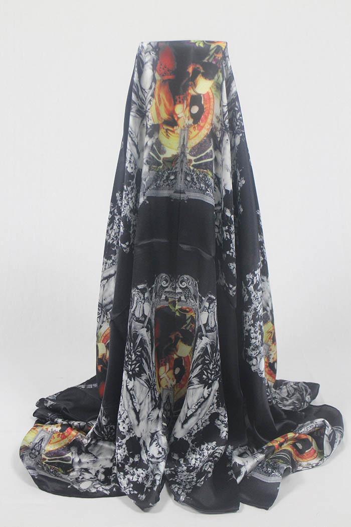 Brand scarf M Q luxury scarves women magic figure Silk scarf new fringe black Large square scarf 140*140cm Spring autumn(China (Mainland))