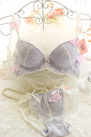 New 2015 Hot Sexy Deep V Lace Bra Sets With Briefs Knickers Brassiere set,Bra & Brief Sets