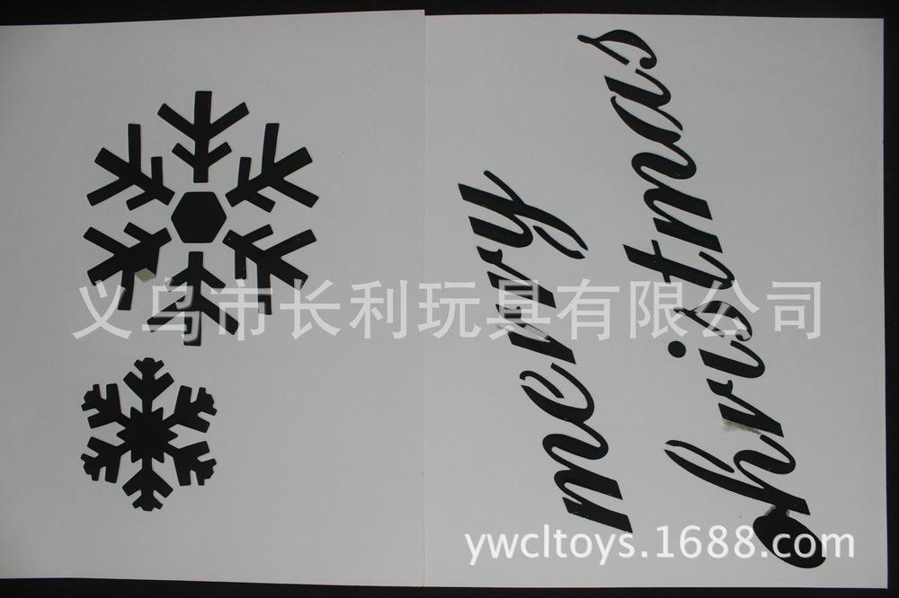 Kerst decoratie sneeuw spray spuiten stencil vensterglas kerstboom
