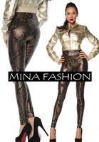 New Arrival Faux Leather Unique Serpentine Leggings Fashion Sexy Slim Legging For Women wf-3019