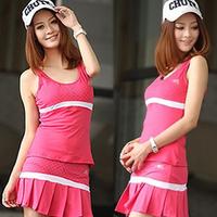 Woman sports set tennis vest skirt culottes pleated skirt tennis women's yoga clothes set