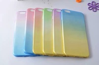 New Gradient color 0.3mm Ultrathin Soft TPU Gel Clear Case For iPhone 6 4.7 Original Phone Back Cover Bag Case Iphone6