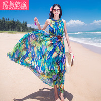 Free shipping new fashion style Beach dress bohemia style full dress plus size chiffon one-piece dress summer glamour  sweet