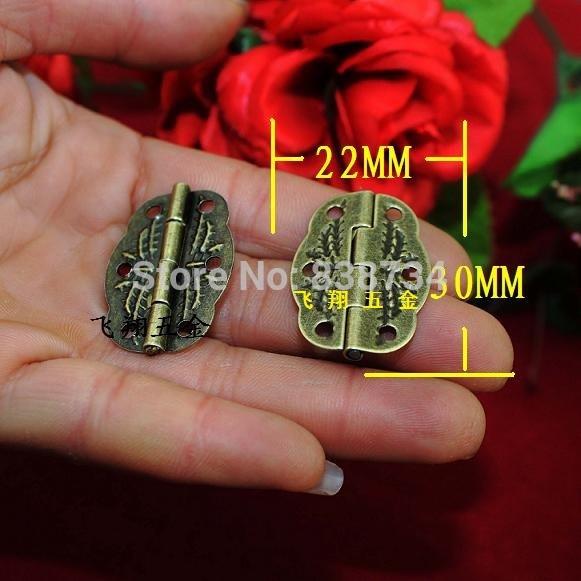 100PCS/LOT High Quality Antique Brass Jewelry Box door Hinge 22*30(China (Mainland))