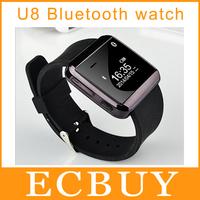 Popular Bluetooth watch Smartwatch U8 U Smart Watch for iPhone 4/4S/5/5S Samsung S4/Note 3 HTC Android Phone Smartphones