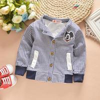 4pc/lot baby clothing factory boys coats spring 2015 new kids cardigan mickey stripe 711