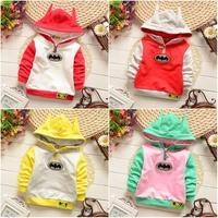4pc/lot baby hoodies 2015 kids pullover cartoon children jacket factory girls clothing 740