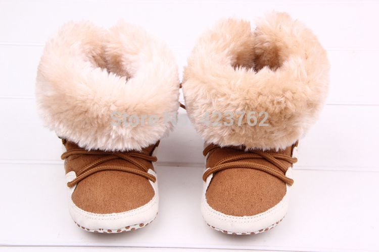 Hot Selling Winter Newborn Warm Snow Baby Boots Comfortable Indoor Toddler Shoes Solid Cross-tied Anti-skid Bebe Boots(China (Mainland))